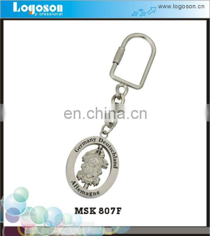 Fashional Floating Metal Key Ring With Custom Logo