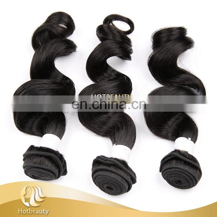 Hot sale loose wave virgin indian hair human virgin hair