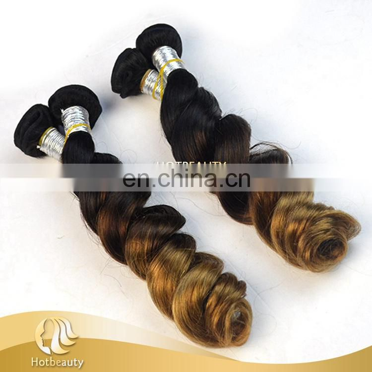 Fashionable Style 3 Tone Color The Softest Peruvian Natural Wave Human Hair Extension
