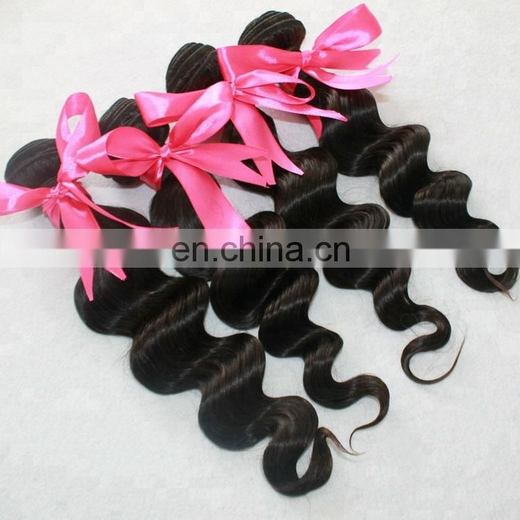 factory wholesale human hair unprocessed weft natural black hair bundles