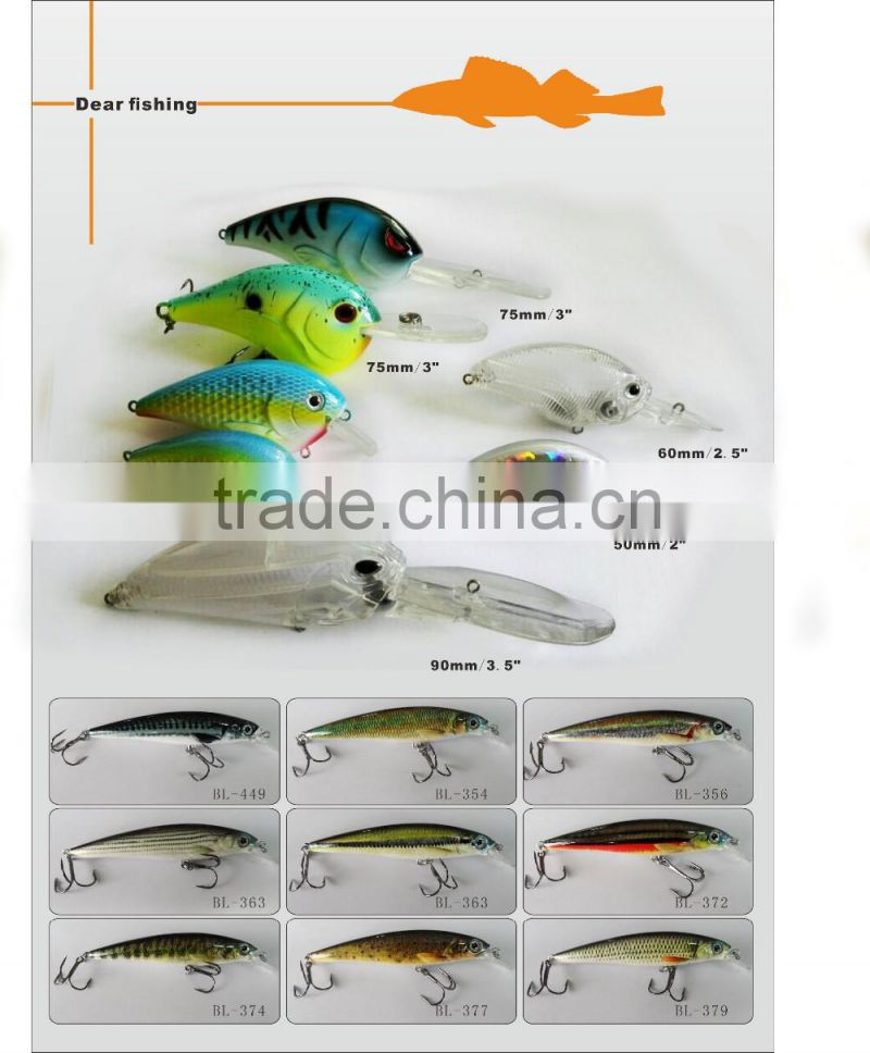 Outdoor hunting and fishing lures hard bait lures for trout fishing