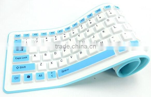 High quality corlorful silicone keyboard/folding silicone keyboard/protable keyboard