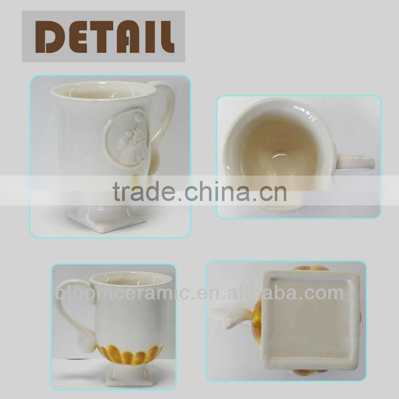 Cheap white ceramic coffee mug