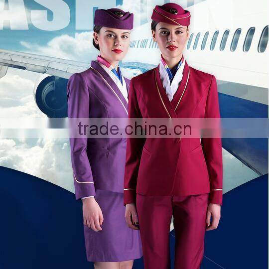 Best Quality Cabin Crew Uniform Flight Attendant Uniforms