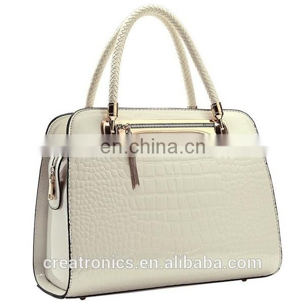 CR export more than 20 countries elegant popular bride handbag crocodile skin pu tote bag