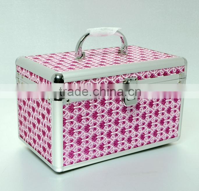 AN30 ANPHY Aluminum Suitcase Jewelry Storage Box Inner Trays With Mirror Metal Handle Lock Case cosmetic case makeup box