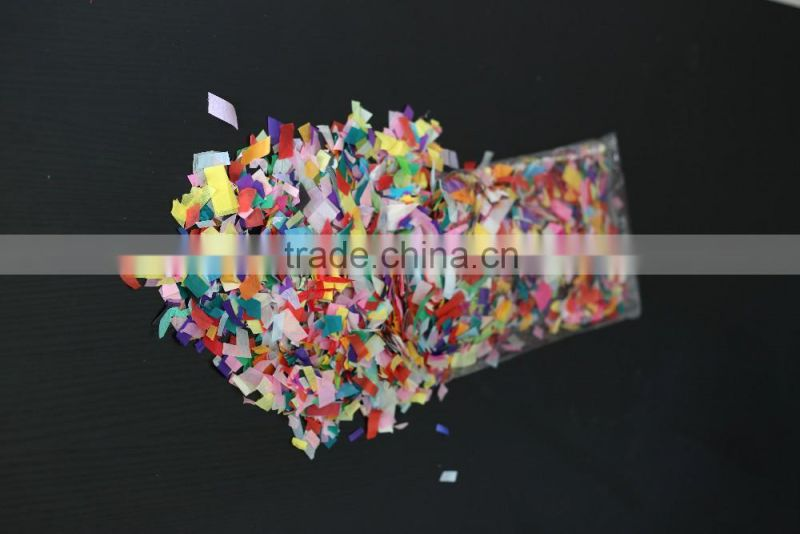 Chinese factory hand cut confetti of flame retardant paper