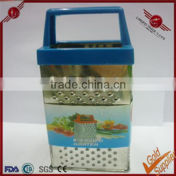 Stainless steel microplane zester grater with plastic handle