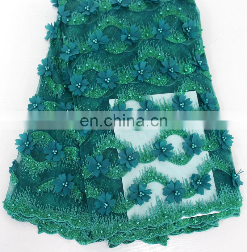 China suppliers 3d lace/3d flower lace fabric/3d tulle lace fabric/3d beads lace/3d bridal lace fabric