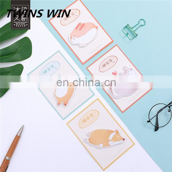 Alibaba popular 2018 yiwu new stationery products wholesale custom printed school paper notepad animal shaped writing memo pad