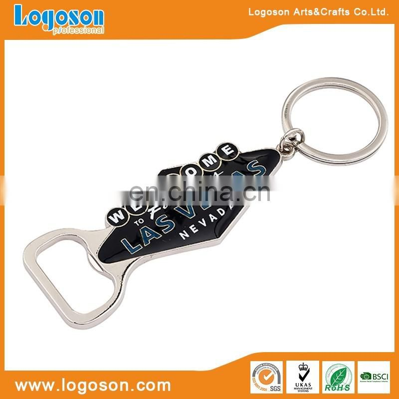 Paris souvenir keychain gifts wholesales metal bottle opener keychain