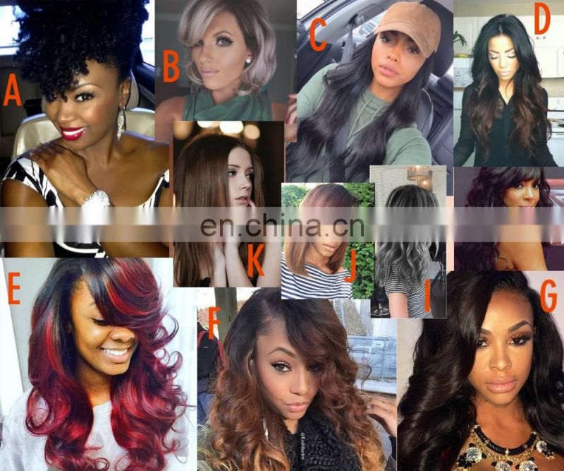 Human hair full lace wig remy brazilian human hair short lace wigs