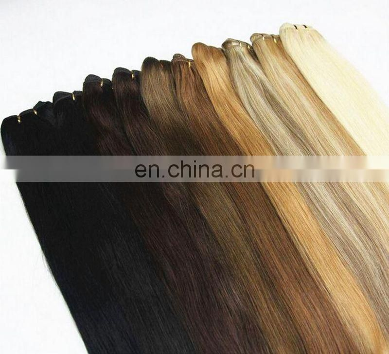 Top Quality Tangle Free Double Weft 100%Indian Remy Human Hair Extension Wholesale