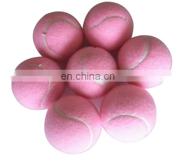 Eco-friendly warm bulk pink rubber tennis balls for kids' training