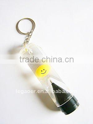 Promotional Acrylic Liquid Ballpoint Pen with Floater and LED Light Inside
