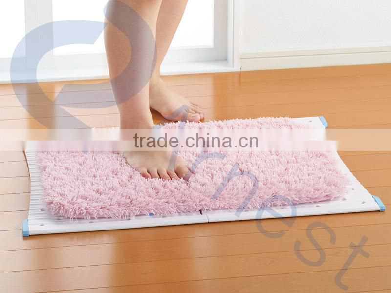 Household laundry tools accessories polypropylene foldable non-slip rug hanger bath mats 76343