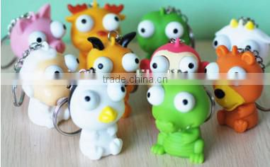 Two big eyes vent key chain toys; relieve pressure key chain toys; cartoon key chain toys;air pressure toys;lovely doll toys
