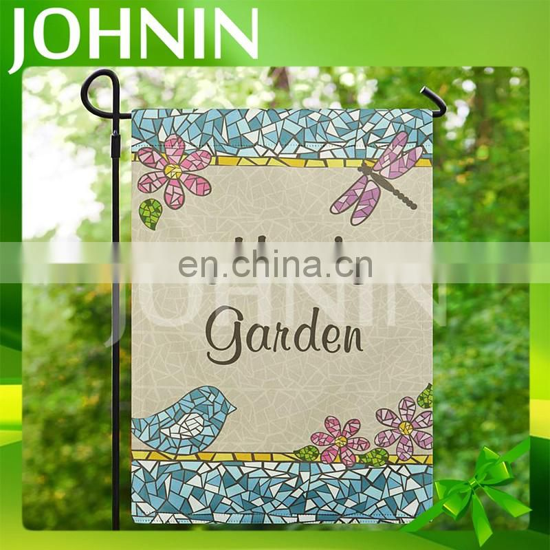 factory promotion high quality digital print custom personalized garden flags