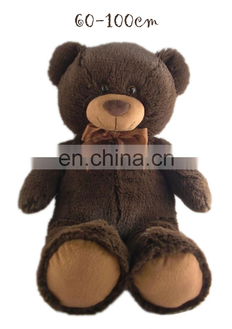New arrived 100 cm Big brown bear plush toy soft feeling valentine's day gift