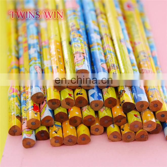 Manufacture cheap bulk fancy advertising stationery 2018 hotsale High Quality wooden pencils with eraser