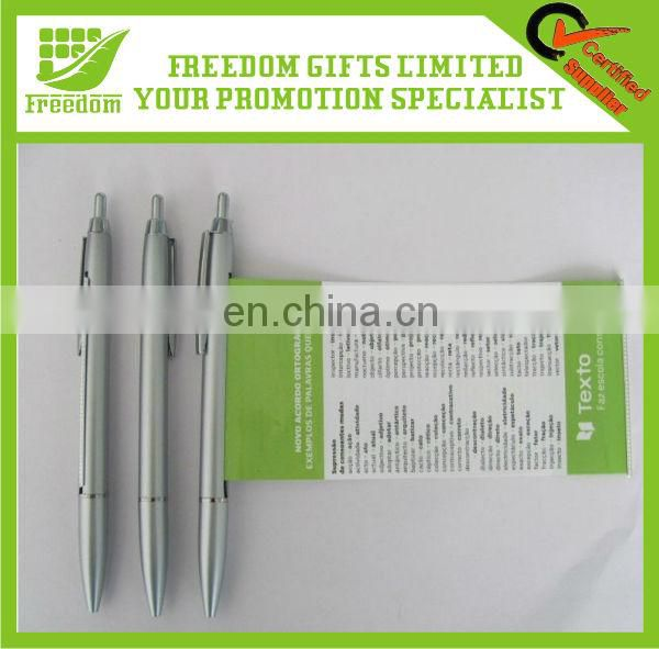 High Quality Logo Printed Pull Out Banner Pen