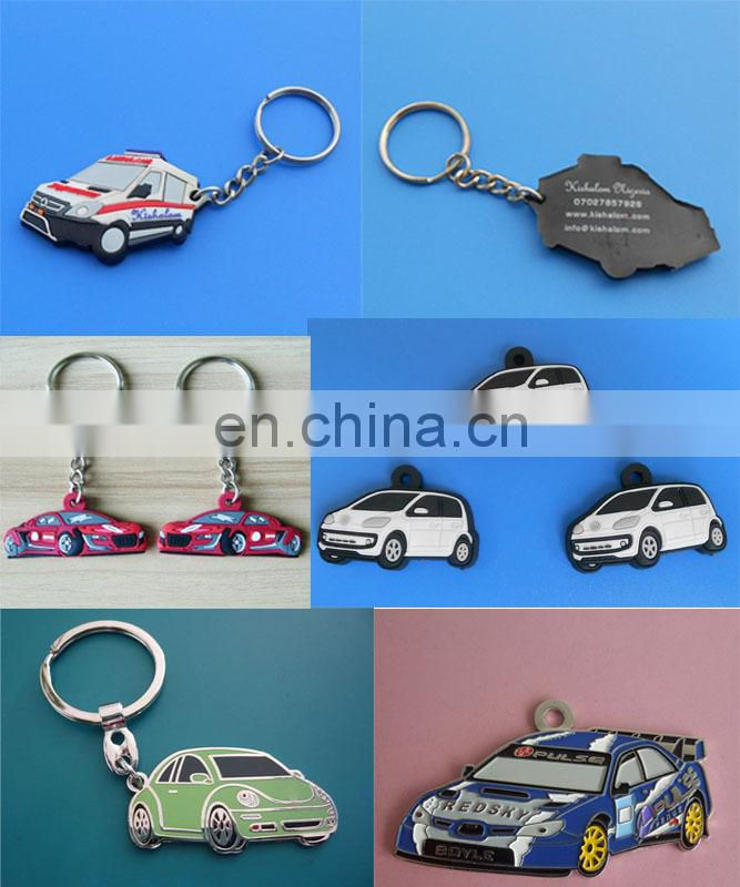 company logo design customized color company souvenir promotional gifts soft PVC keychain