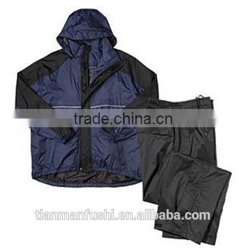 2015 Dark Blue Breathable Rain Suits Quality Custom-made Cheap Workwear OEM ODM Rain Work clothings