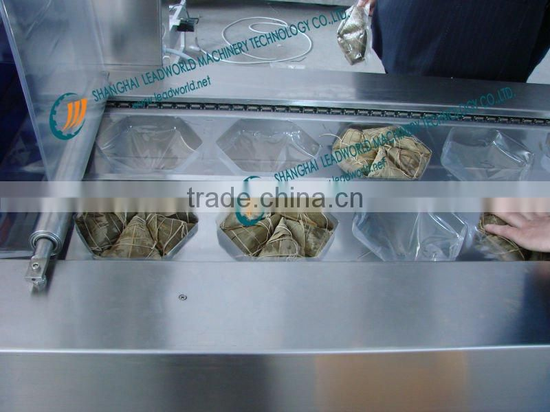 Stainlees steel food vacuum packing pouch machine