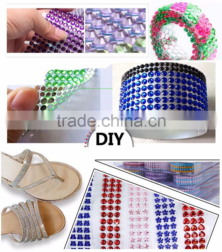 Customized Self-adhesive Acrylic Rhinestones Sticker Number Tape Scrapbooking Craft Decorative Sticker