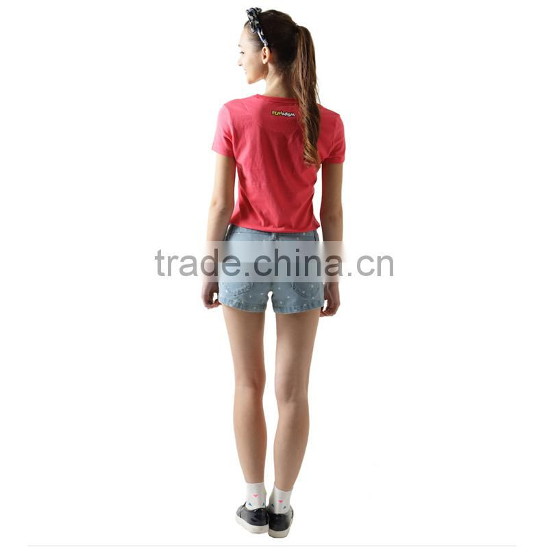 cartoon tshirt slim tshirt for lady