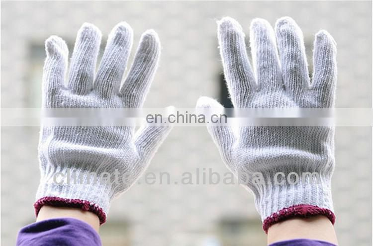White cotton labor insurance gloves