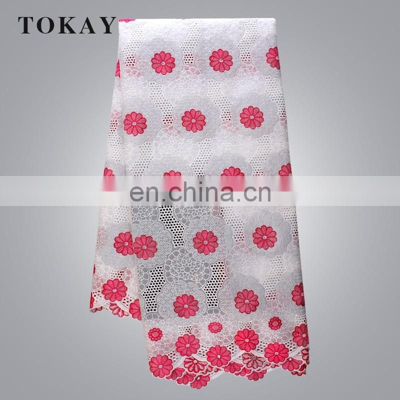 TOKAY new swiss voile lace designs in dubai embroidered swiss cotton voile fabric