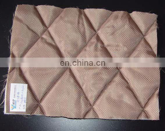 Thermal bond fluffy polyester batting quilted material