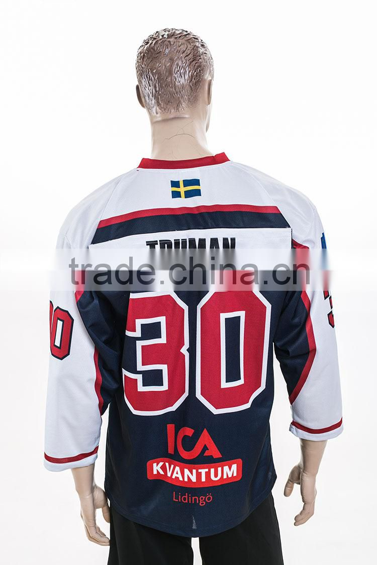 No.30 team wear patches running man multicolor ice hockey tshirts