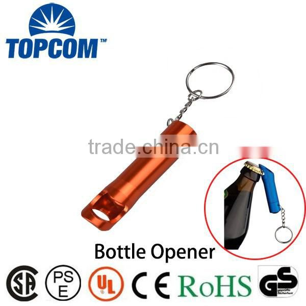 Free printing own logo 3 LEDs bottle opener keychain light promotional keyring gift