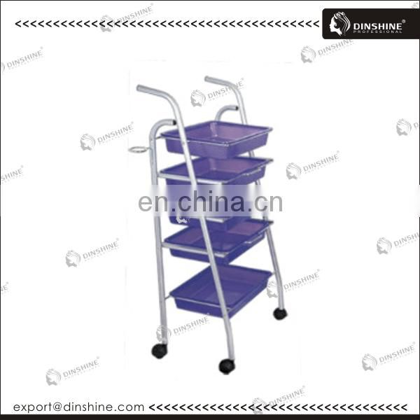 2014 hot sale beauty equipment plastic hair salon trolley cart DSA021