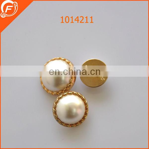 fancy abs pearl combined button with plastic tape for women coat