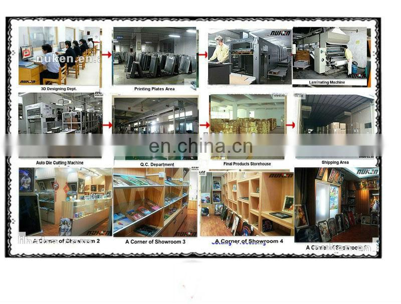 Low price custom design wholesale 5D poster factory