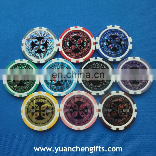 40mm different color ABS casino chips with printing my logo