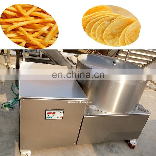 professional manufacturing potato chips deoil machine French Fries Deoiling Making Machine for sale