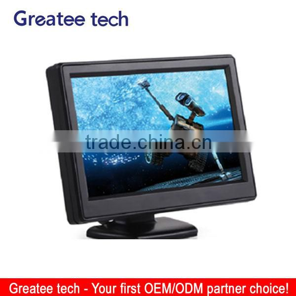 Hot selling 5 inch rearview Car LCD Monitor with sucking disk