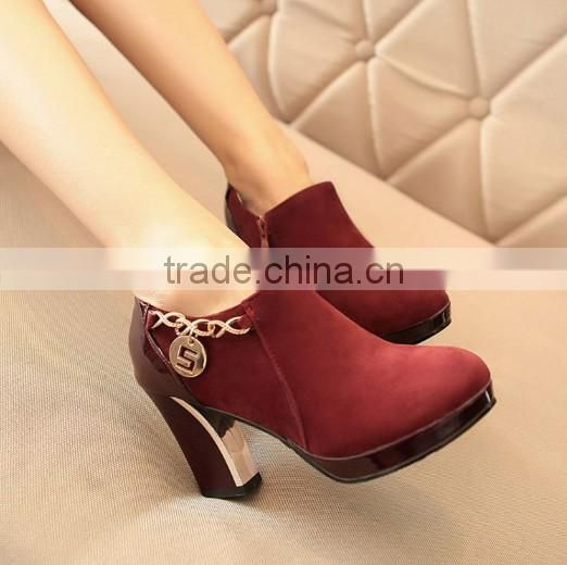 ladies high heel boots ankle boots alibaba china CP6429