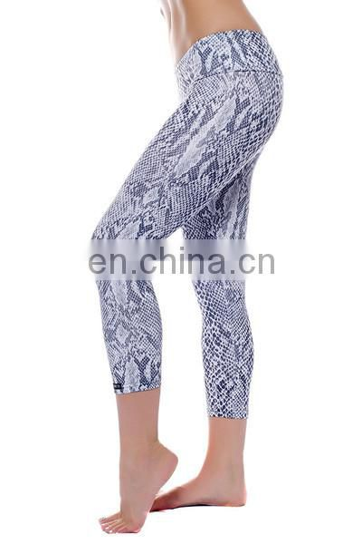 high quality snakeskin printed yoga legging jeggings /sex leggings for women