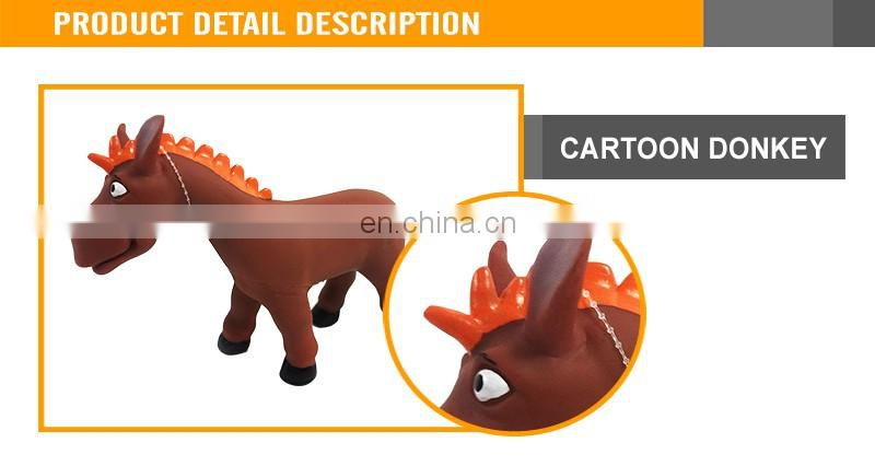 9 Inches Cartoon Donkey Evade Glue Animals Horse Toys