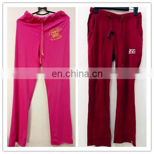 cream cheap high quality second hand jogging suit and sports tracksuit for women