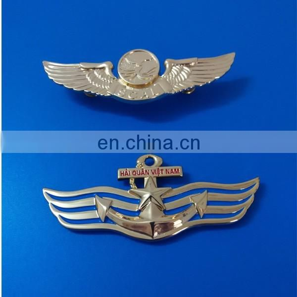custom made metal design badge pin