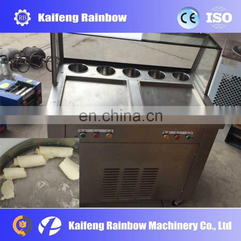 Factory Directly Supply Lowest Price fried ice cream roll maker /frying ice cream machine/ fried ice cream roll machine
