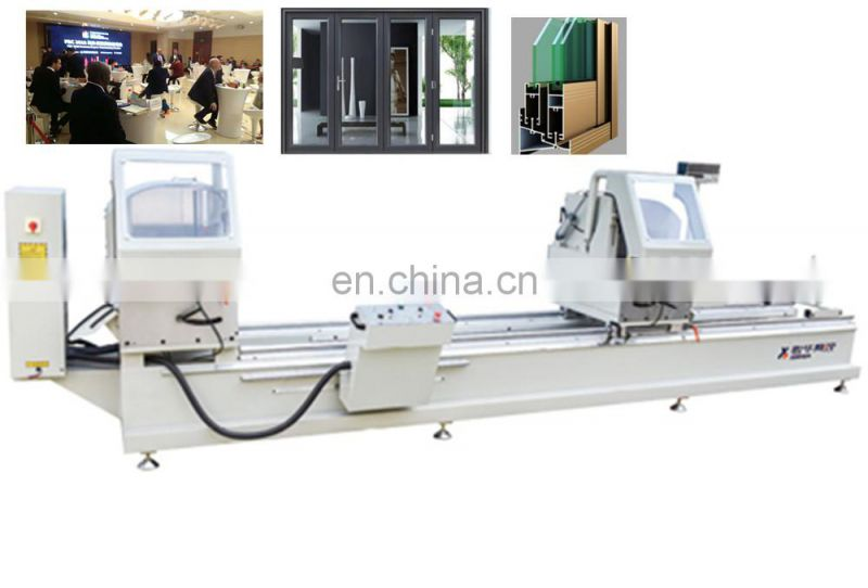 Two-head saw automatic snap fastening machine sliding window opener miter manufacture