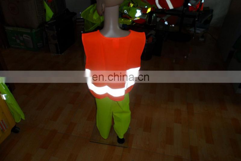 4-7years 100% Polyester Yellow Kids Reflective Safety Vest with Certification