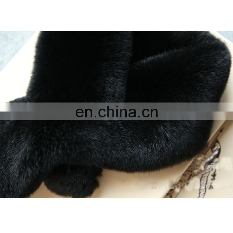 New design rex rabbit fur scarf high quality fur neck warmer